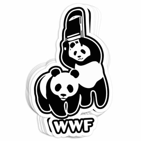 BustedTees: WTF Vinyl Sticker