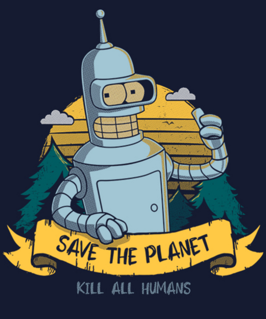 Qwertee: Save the planet - kill all humans
