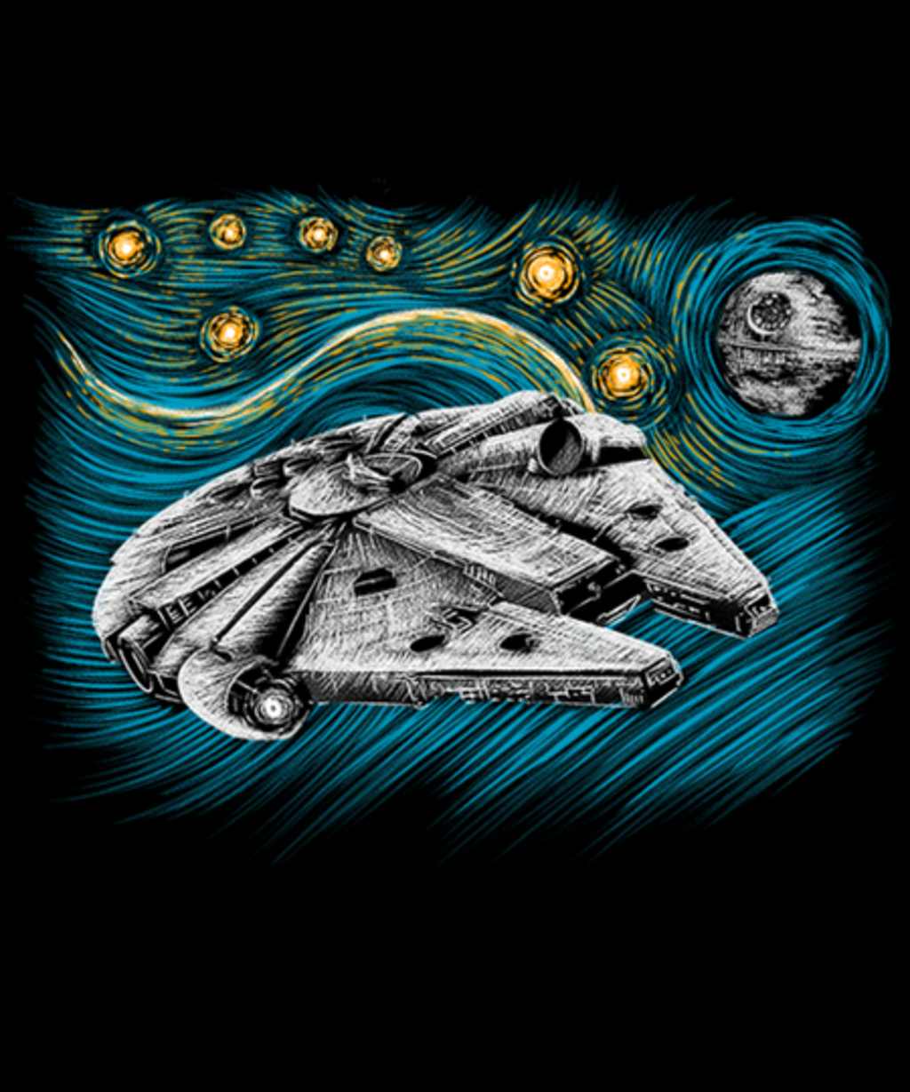 Qwertee: Starry Falcon