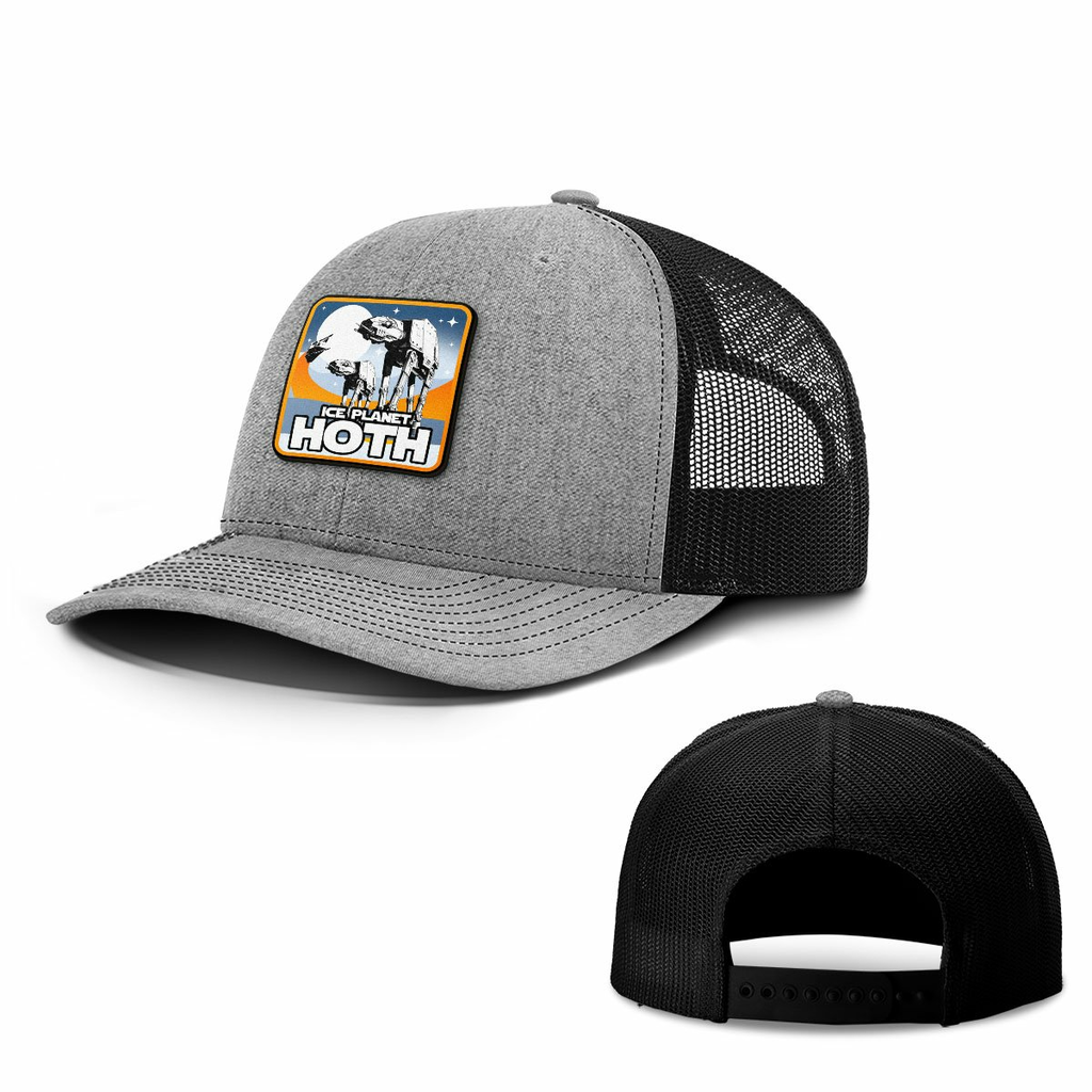 BustedTees: Ice Planet Hoth Patch Hats