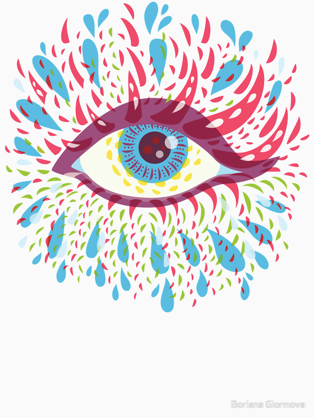 RedBubble: Weird Blue Psychedelic Eye
