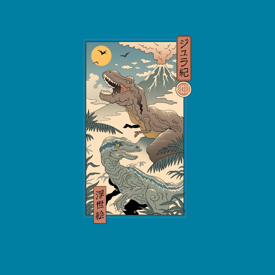 TeeFury: Jurassic Ukiyo-e