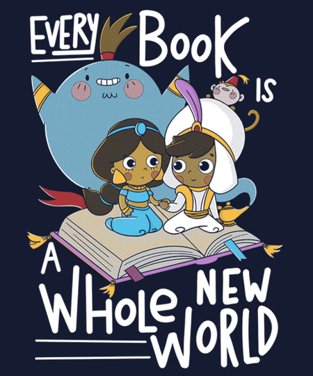 Qwertee: Every Book Is A Whole New World