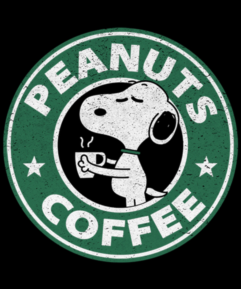 Qwertee: Peanuts Coffee
