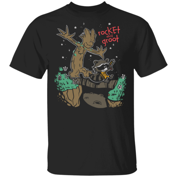 Pop-Up Tee: Rocket and Groot