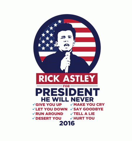 BustedTees: Rick Astley For President
