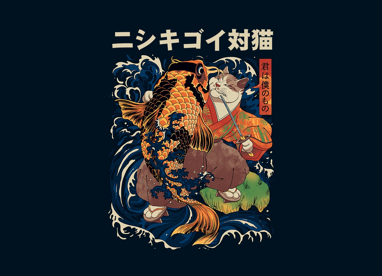 Threadless: The Cat and the Koi