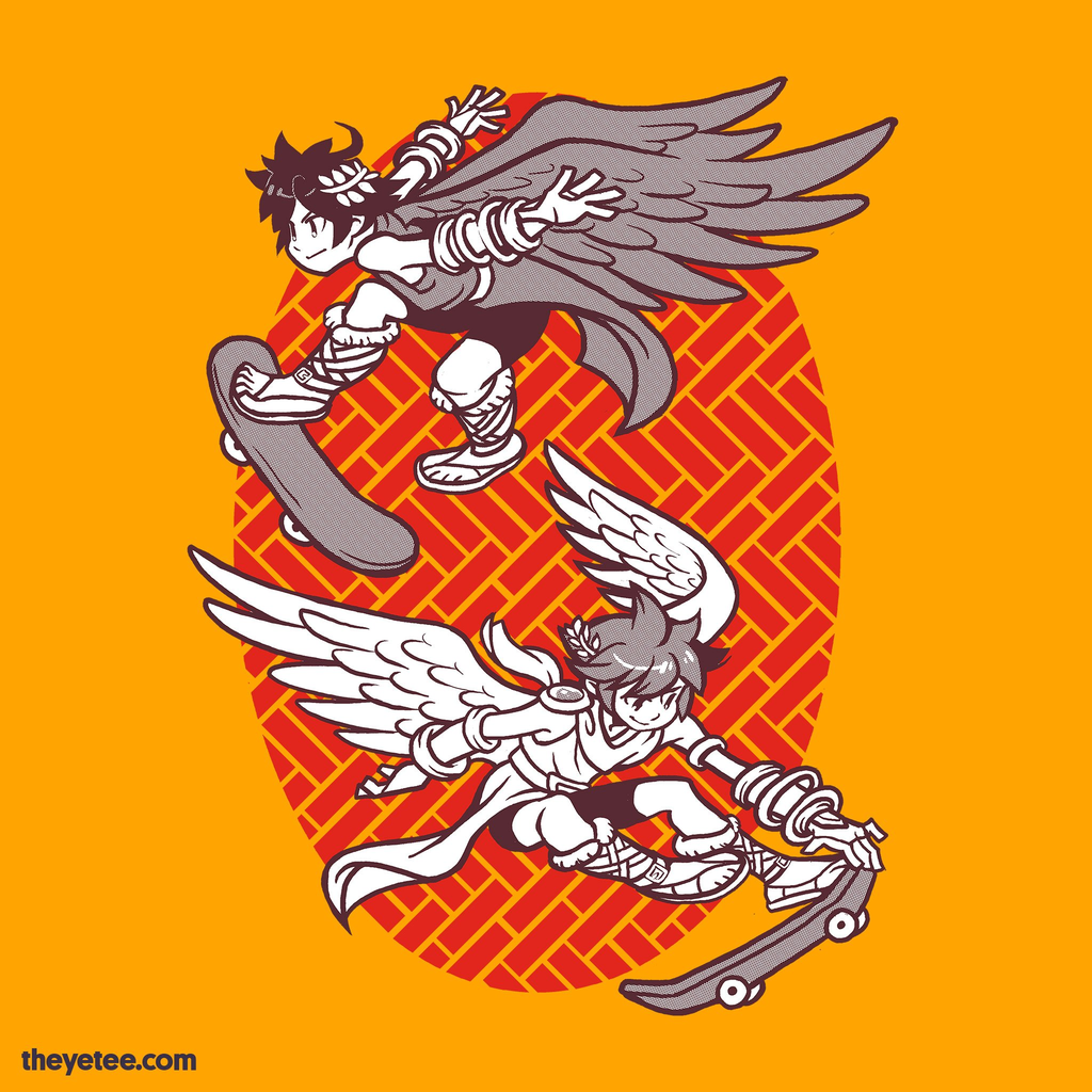 The Yetee: Skater Angels