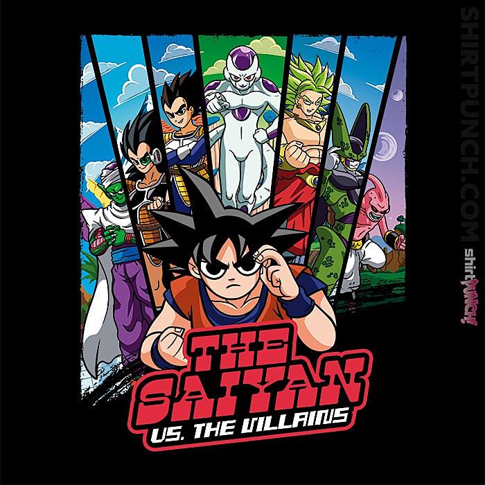 ShirtPunch: The Saiyan Vs The Villains