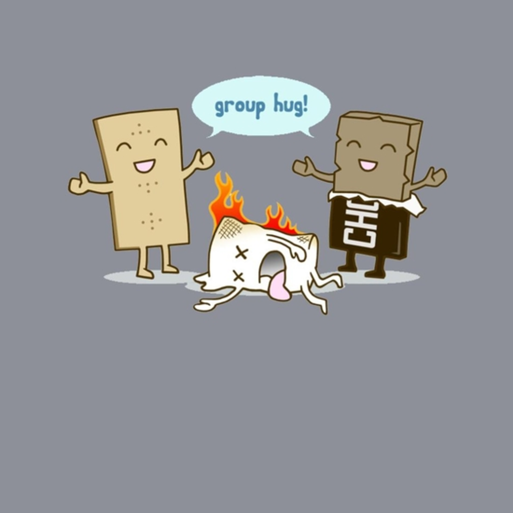BustedTees: Funny S'mores Group Hug