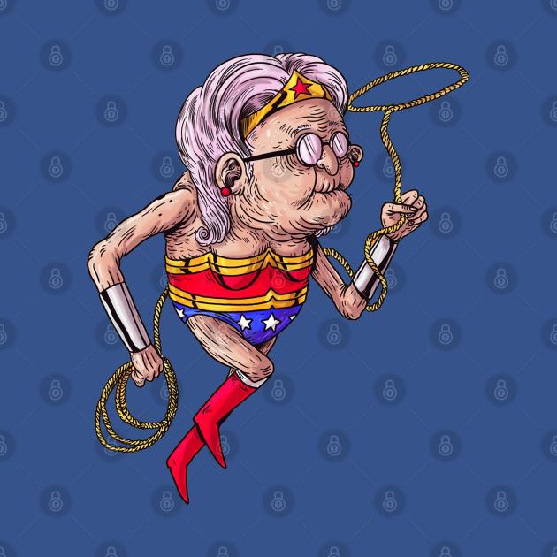 TeePublic: Wonder Woman Old