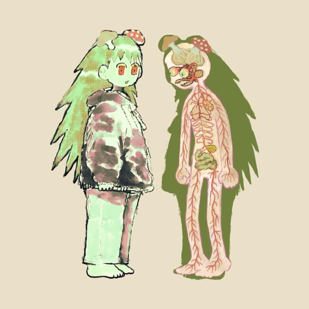 TeePublic: mushroom girl