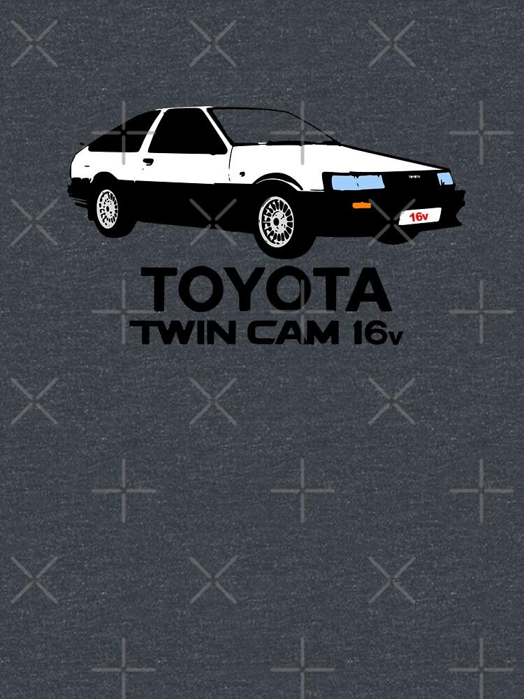 RedBubble: Toyota Ae86 Twincam White over Black
