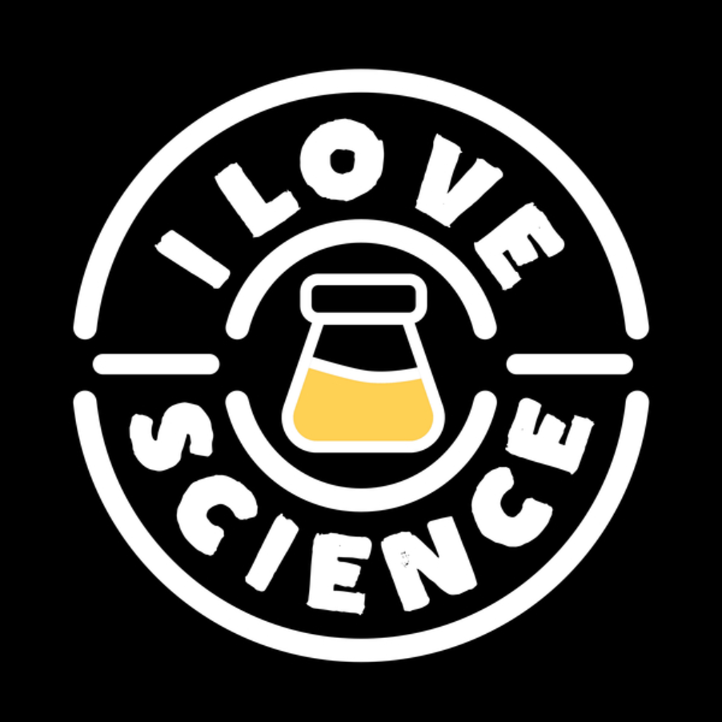 NeatoShop: Flask I Love Science Retro Vintage