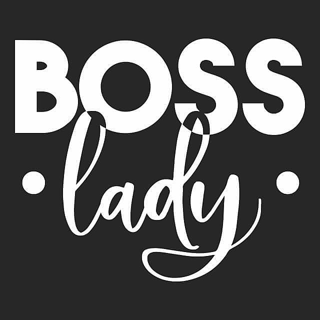 Textual Tees: Boss Lady