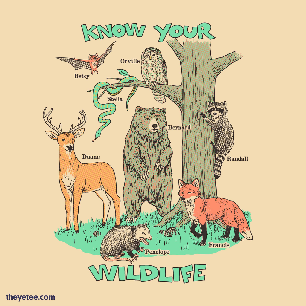 The Yetee: Know Your Wildlife