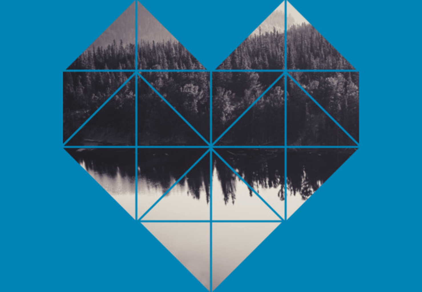 Design by Humans: Geometric art - heart