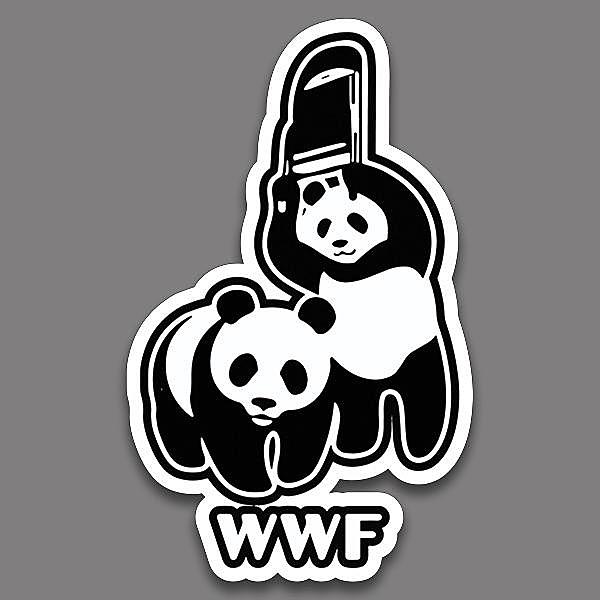 BustedTees: WWF Vinyl Sticker