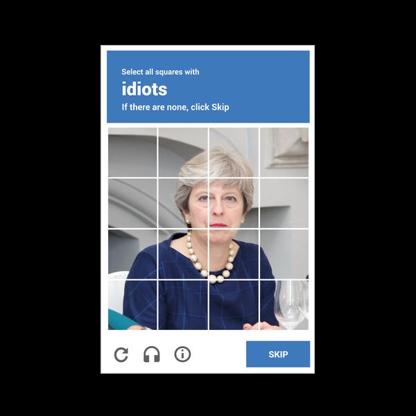 NeatoShop: reCAPTHCHA -- Theresa May