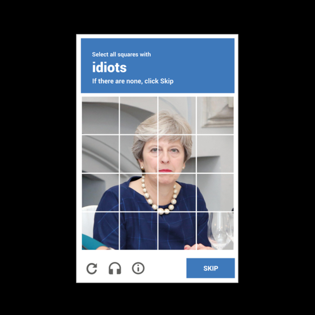 NeatoShop: reCAPTHCHA -- Theresa May