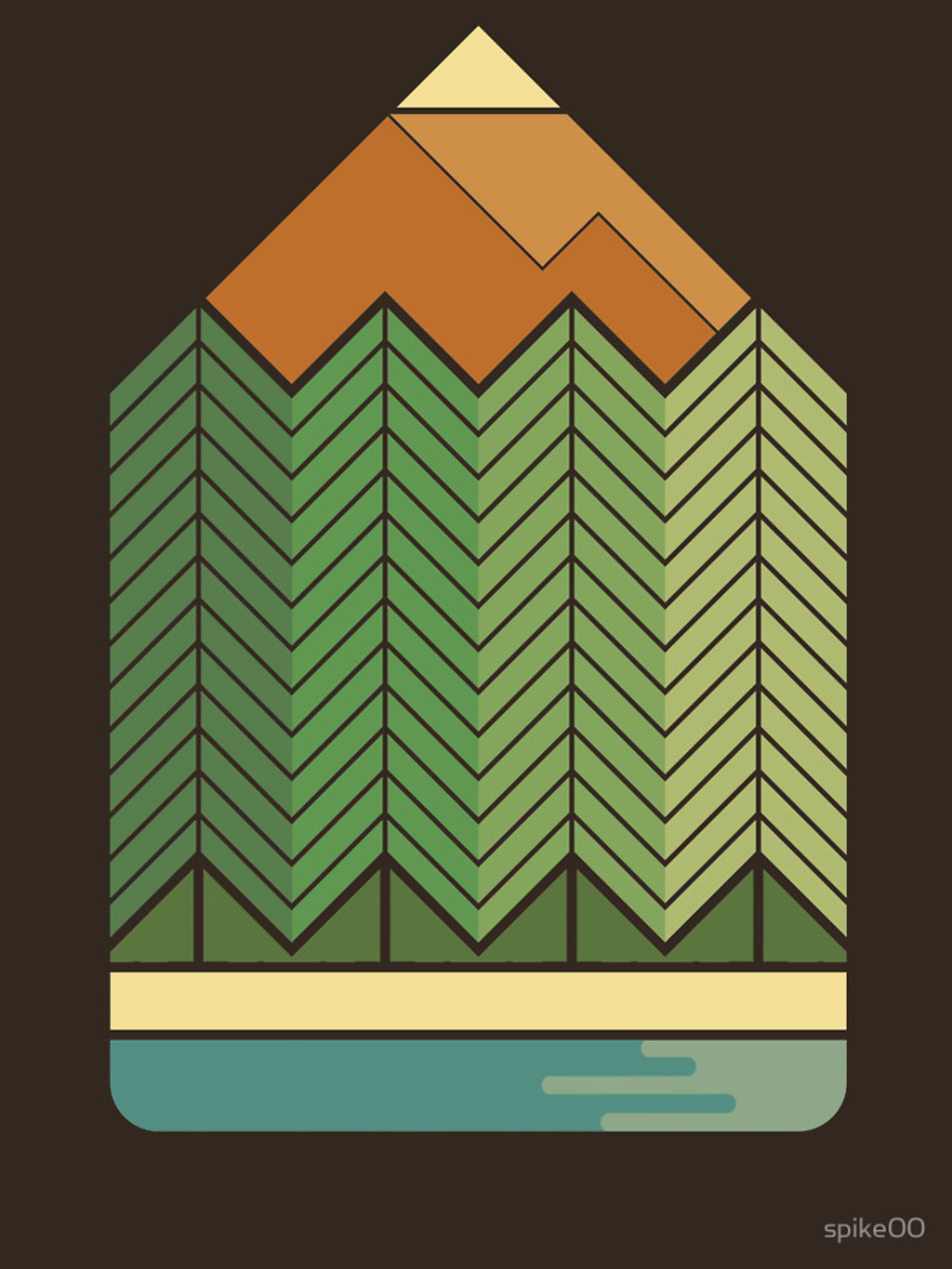 RedBubble: Drawing Mountains