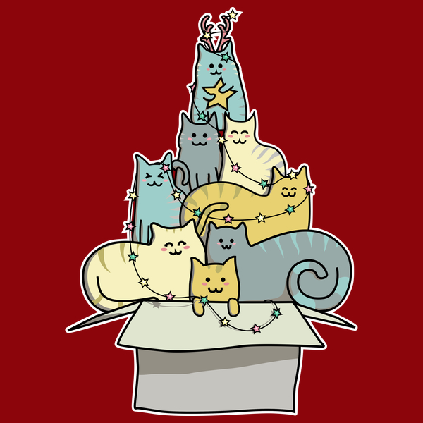 NeatoShop: Cute Kawaii Cat Christmas Tree