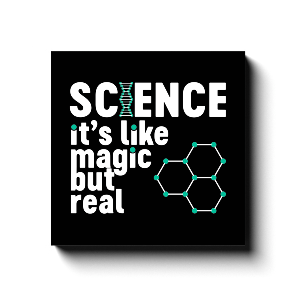 BustedTees: Science Magic Canvas Wraps