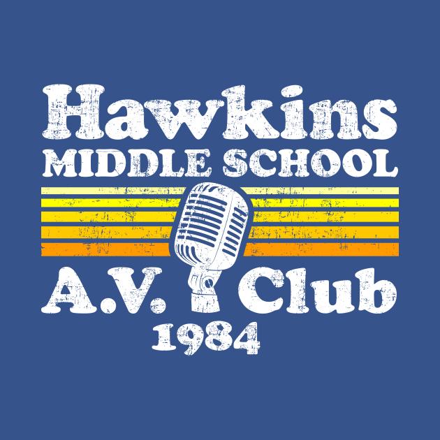 TeePublic: Stranger Things Hawkins Middle School A.V. Club