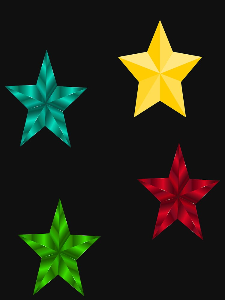 RedBubble: 4 Stars:Blue/yellow/Red/Green
