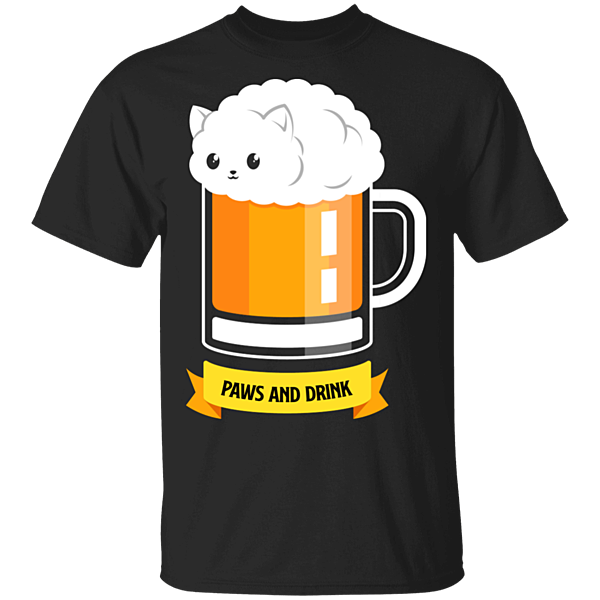 Pop-Up Tee: Paws and Drink