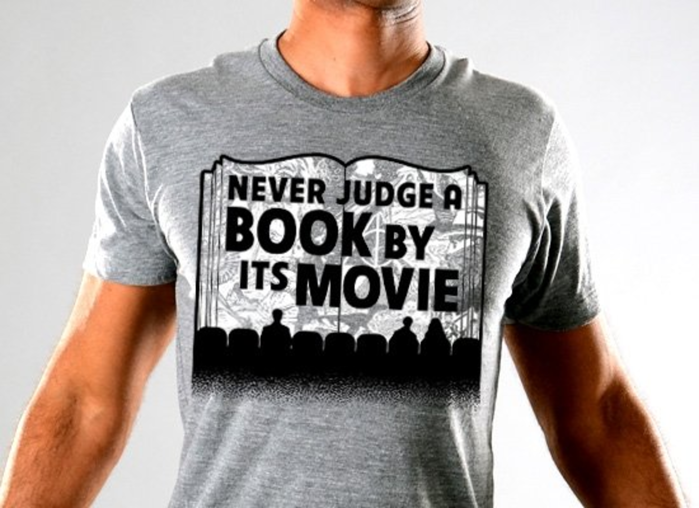 SnorgTees: Never Judge A Book By Its Movie Limited Edition Tri-Blend
