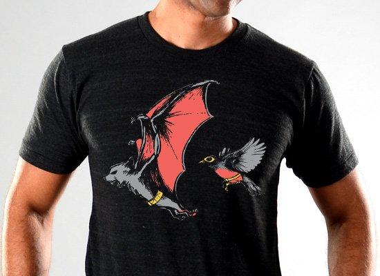 SnorgTees: Bat And Robin Limited Edition Tri-Blend