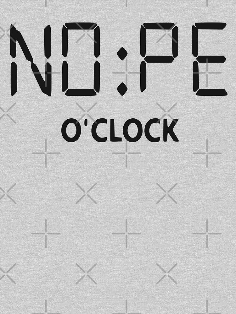 RedBubble: NOPE o'clock