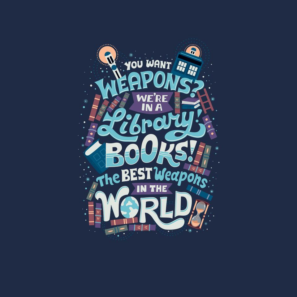 TeeFury: Books are the Best Weapons