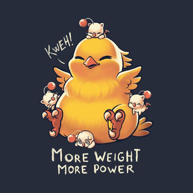 TeePublic: Kweh! Fat Chocobo - Final Fantasy Creature - Monster Summon