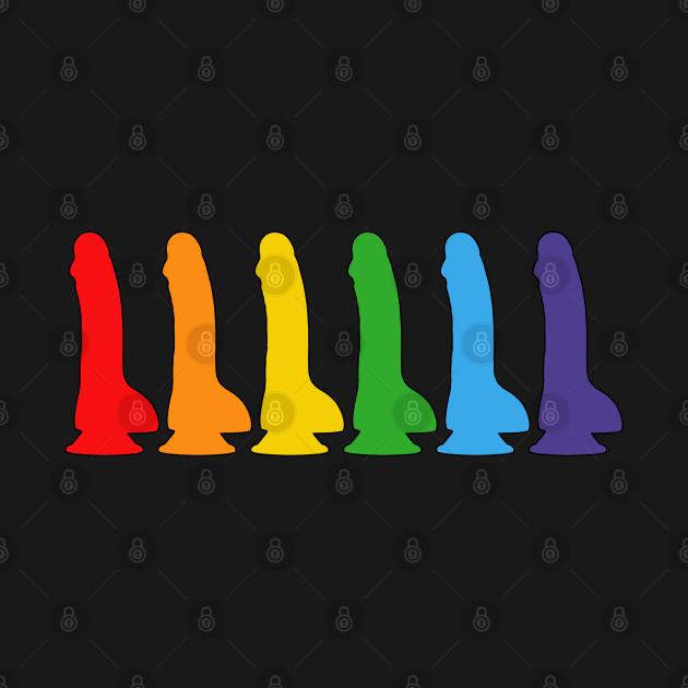 TeePublic: LGBT Flag Raindow Dildo Gay Pride Parade Lesbian Homosexual