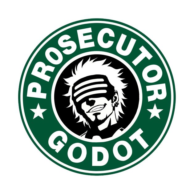 TeePublic: Prosecutor Godot Coffee