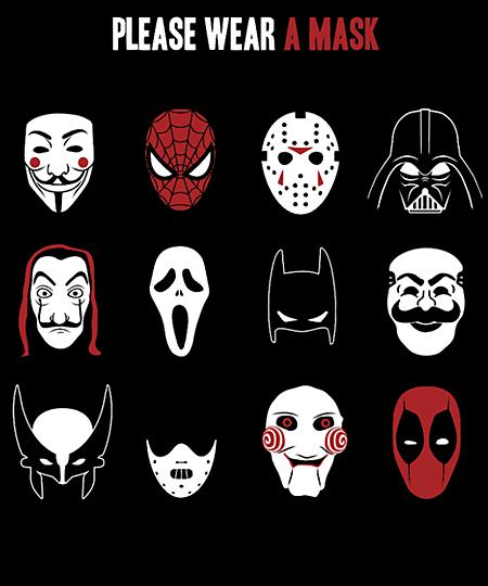 Qwertee: Please wear a mask