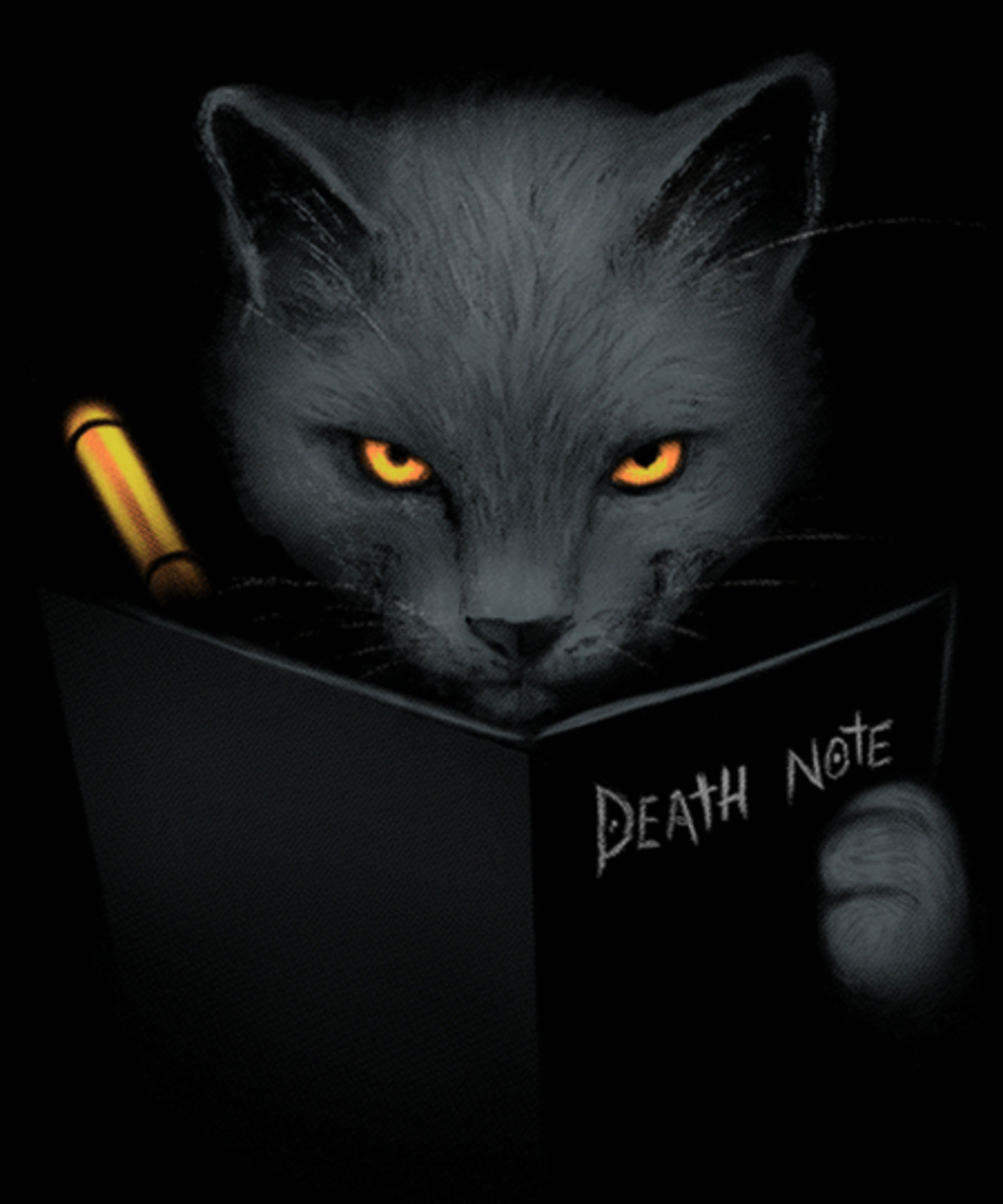 Qwertee: Shinigami cat