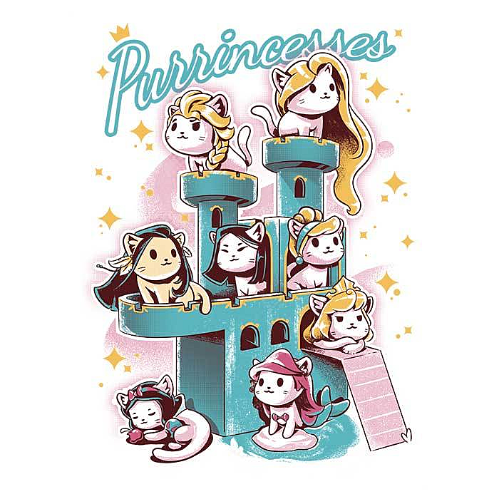 Once Upon a Tee: Purrincesses