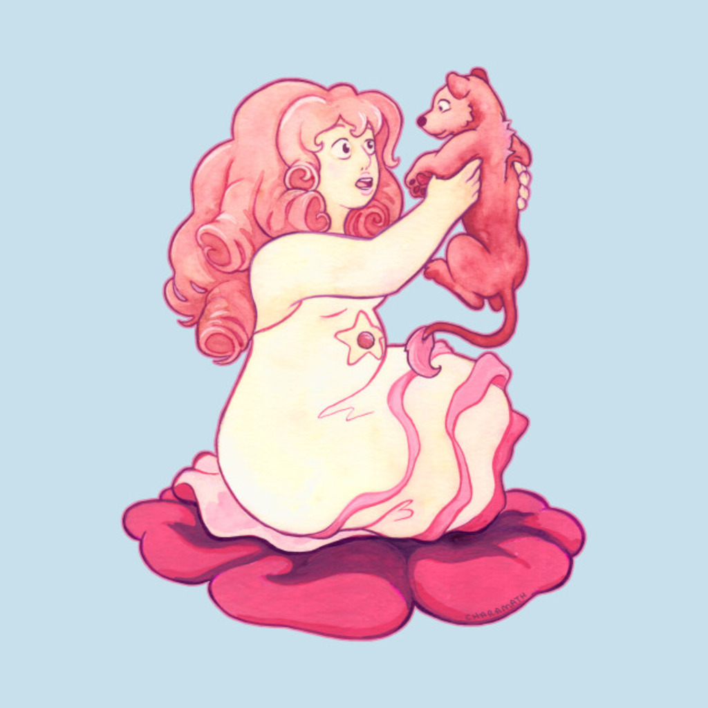 TeePublic: Rose Quartz and Baby Lion T-Shirt