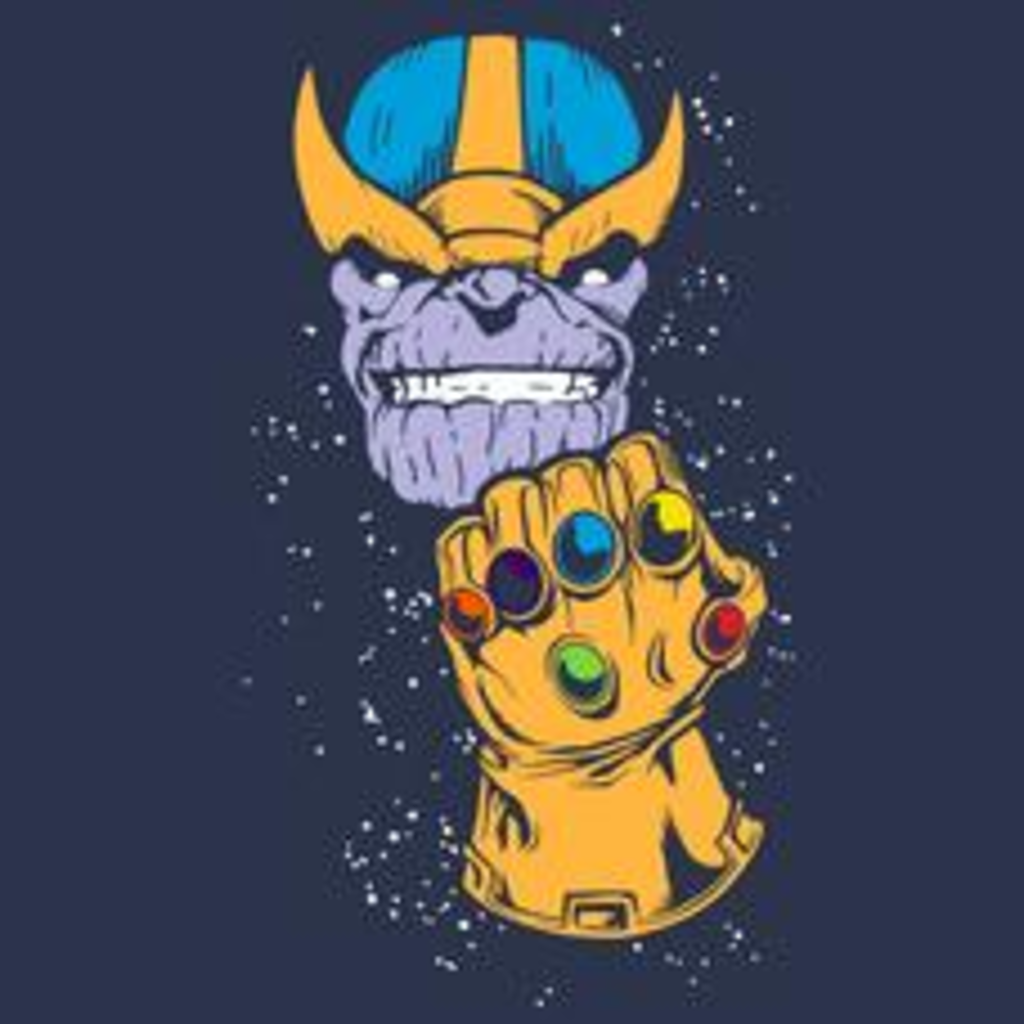 Textual Tees: Thanos Infinity Gauntlet T-Shirt