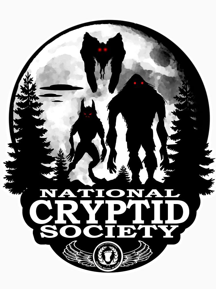 RedBubble: Bigfoot, Dogman, Mothman, UFO's; National Cryptid Society