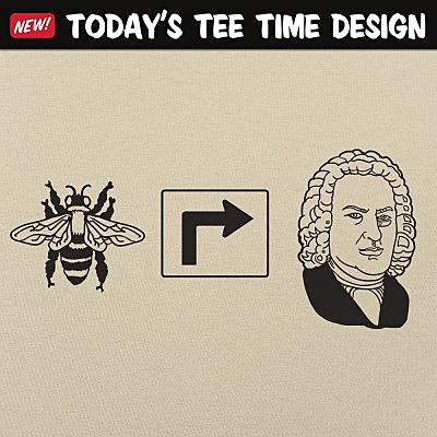 6 Dollar Shirts: Bee Right Bach