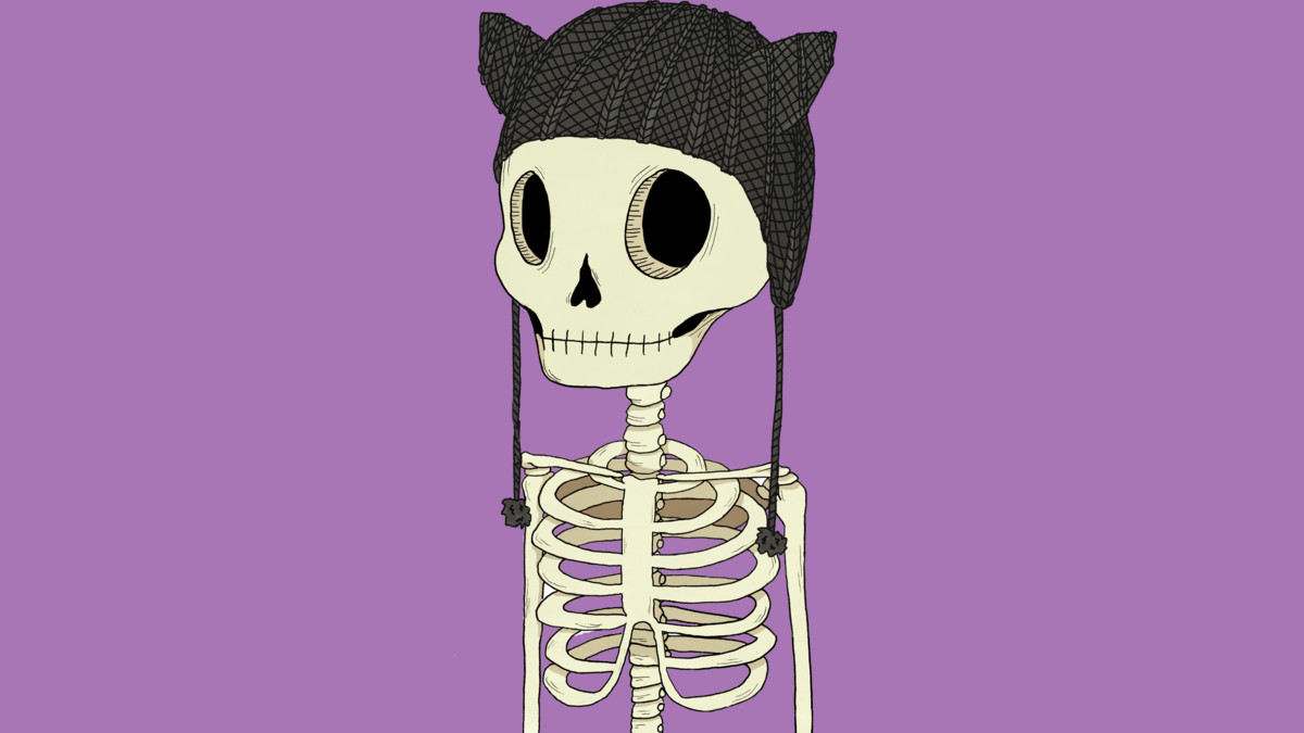 Design by Humans: Skeleton Kitty