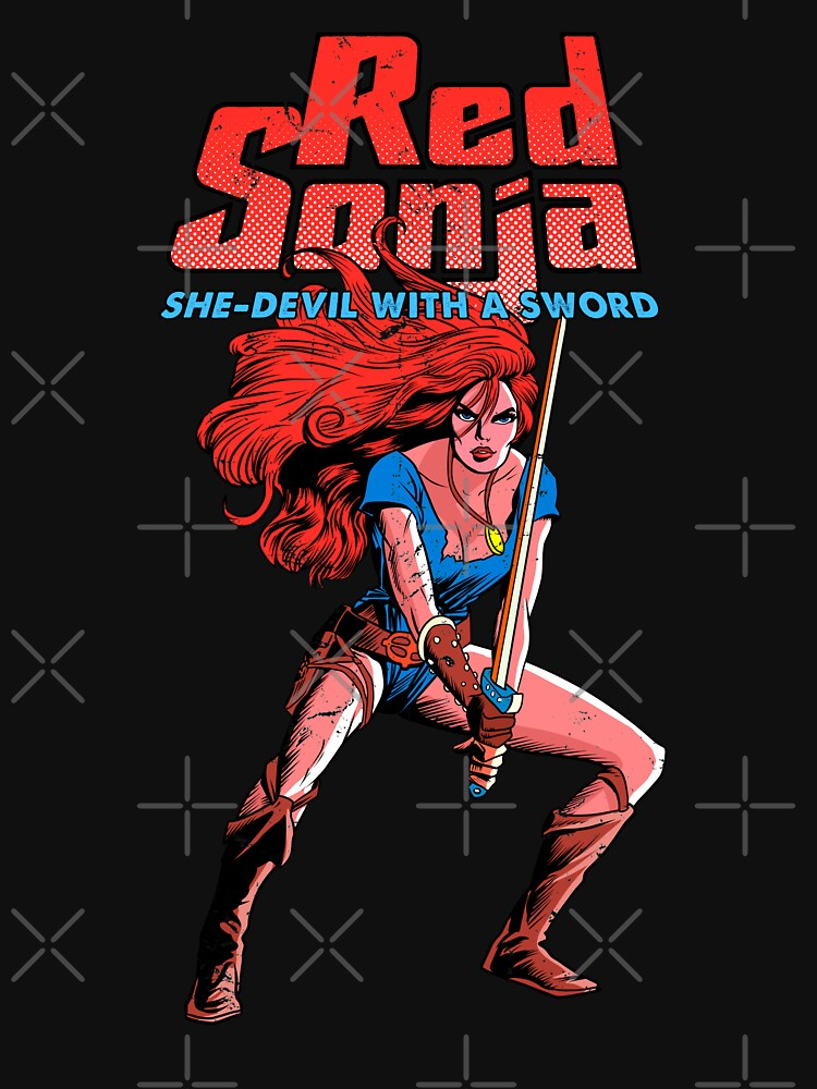 RedBubble: Vintage Red Sonja