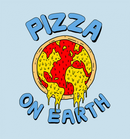 BustedTees: Pizza On Earth