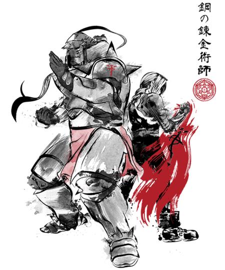 Qwertee: Brotherhood Sumi-e