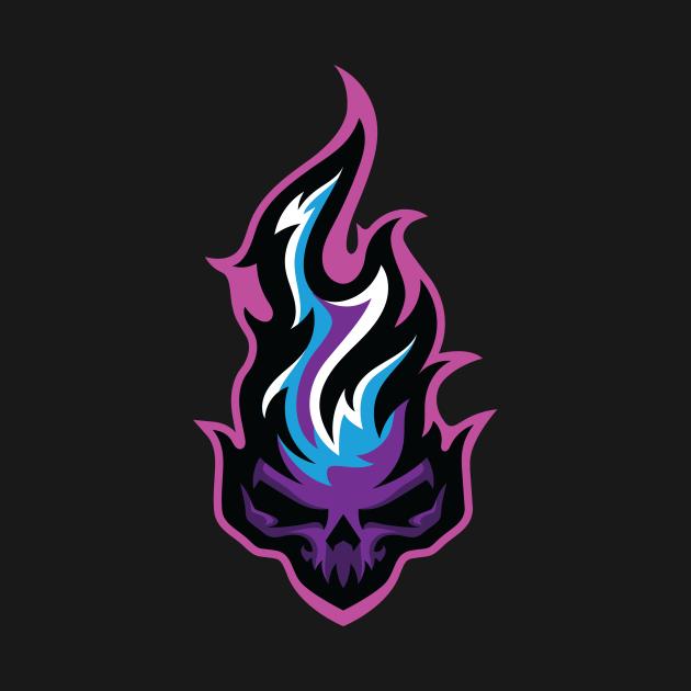 TeePublic: Skull Fire
