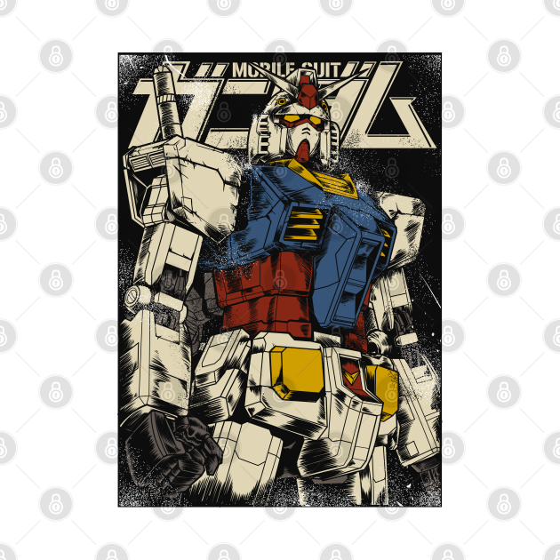 TeePublic: The First Gundam Colored ver.